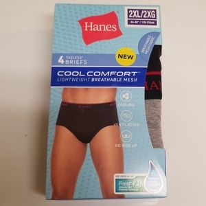 Hanes 4 Pack Cool Comfort Briefs